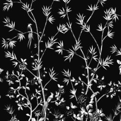 Pheasants and Bamboo-J-01604